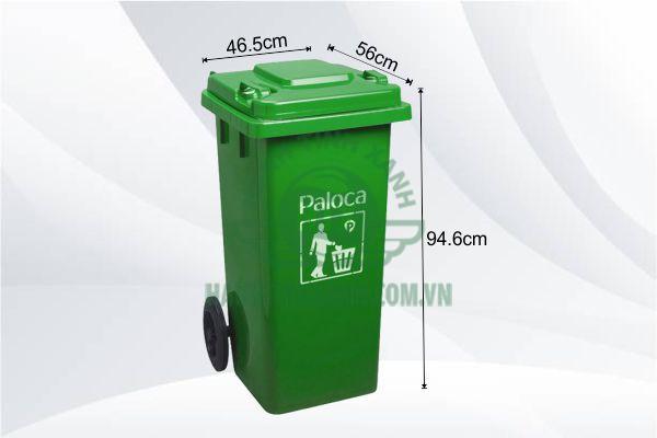 Kích thước thùng rác hdpe 120l