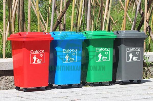 Thùng rác nhựa hdpe 60l