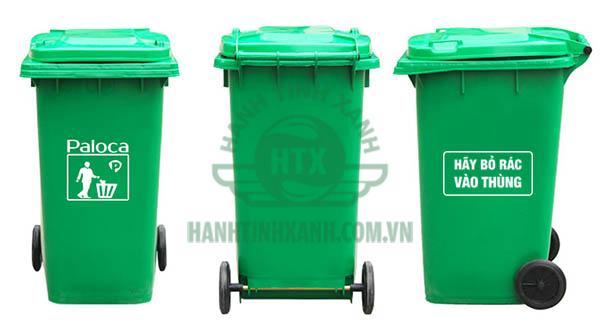 Thùng rác nhựa 240 lít chính hãng Paloca
