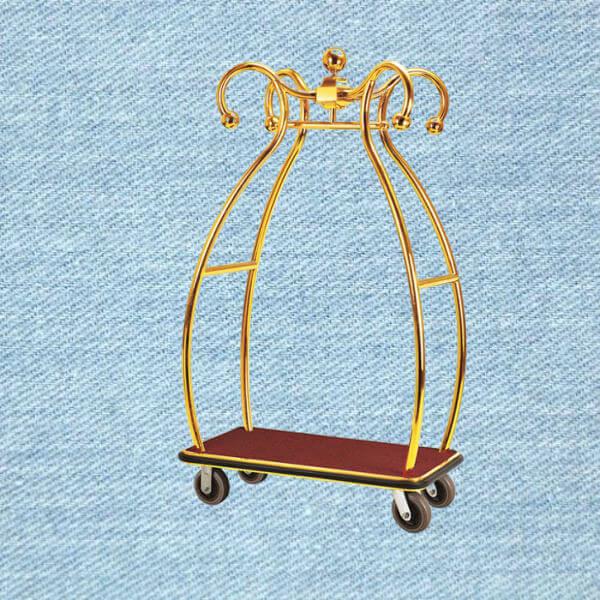 Mẫu xe đẩy hành lý thép phun sơn sang trọng