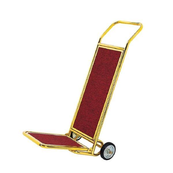 Xe đẩy hành lý inox mạ vàng 2 bánh