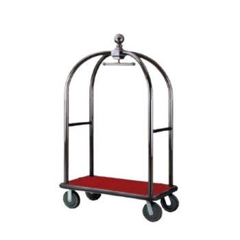 Xe đẩy hành lý khung inox đen mang rất nhiều ưu điểm nổi bật