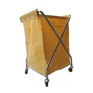 Xe giặt là khung inox túi vải bạt màu vàng