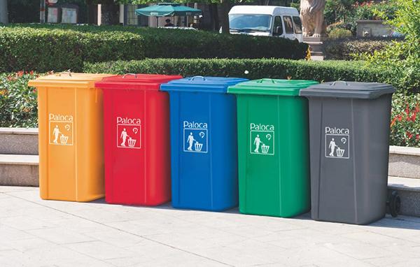 Thùng rác nhựa composite 240 lít thương hiệu Paloca