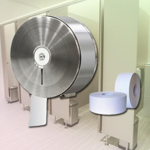 Hộp đựng giấy vệ sinh bằng inox có khóa cao cấp