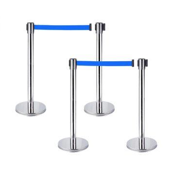 Cột chắn inox dây xanh cho sân bay