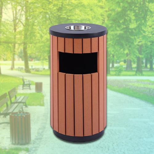 Thùng rác gỗ ngoài trời, Thùng rác trang trí bằng gỗ