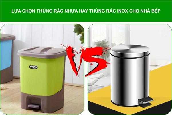 luc chon thung rac nhua hay thung rac inox